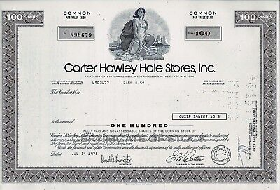 Carter Hawley Hale Stores Inc., California, 1975  (100 Shares)