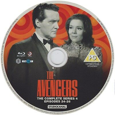The Avengers, Series 4, Episodes 24-26 (blu ray, region B)