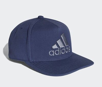 37b13753533 Adidas H90 Logo Snapback Hat Baseball Cap - Adjustable - CF4870 - Navy