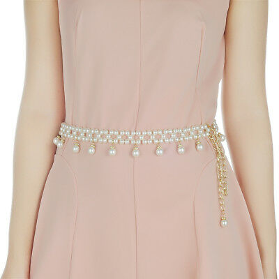 Ladies Waist Chain Diamond Belt Dress Designer Womens One Size Diamante