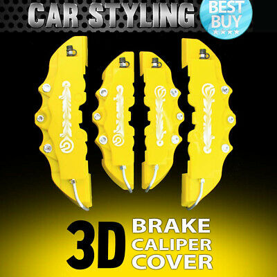 4pcs Yellow 3D Disc Racing Running Brake Caliper Covers For Audi #18 inch wheels