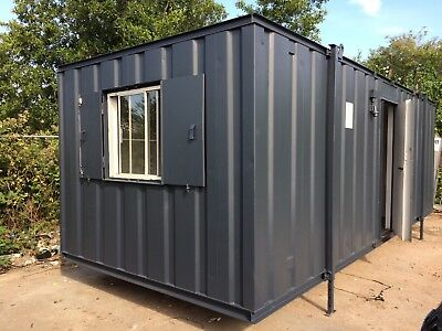 24ft x 8ft Anti Vandal Office & Canteen Container BLUE OR GREEN OR GREY