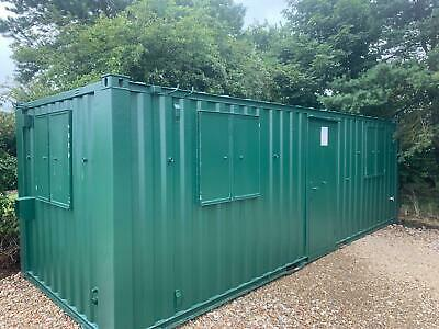 24ft x 8ft Anti Vandal Office and Canteen Container GREY, GREEN OR BLUE - BURY!!