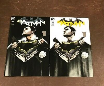 2x BATMAN 50 JOCK FORBIDDEN PLANET/JETPACK COMICS EXCL VARIANT; A B Wedding?