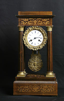 """pendule portique Charles X / French clock, """"pendule portique"""" Charles X"""