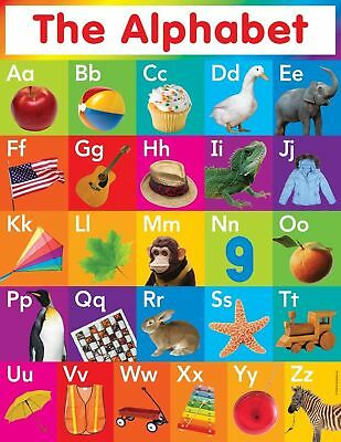153220 My ABC Alphabet Learn table Art Wall Print Poster UK