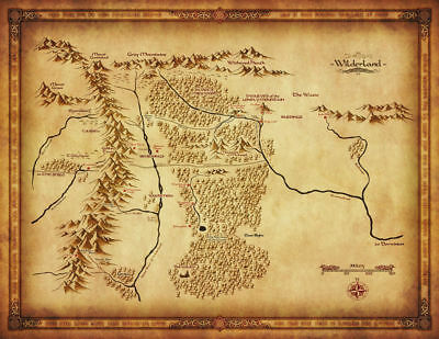 153415 Map of Middle Earth Lord Of The Ring Art Wall Print Poster UK