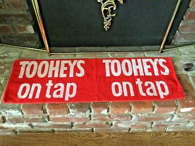 Tooheys On Tap Pub/Bar Towel From Australia Red & White Mancave Bar Top
