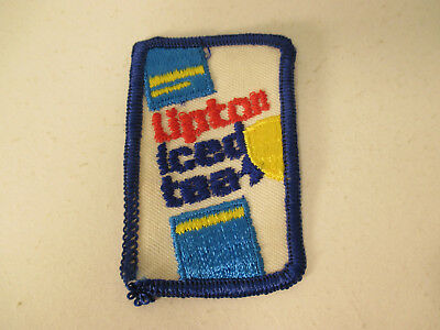 "VINTAGE ""Lipton Iced Teas"" HAT PATCH or SHOULDER PATCH LQQK!!!"