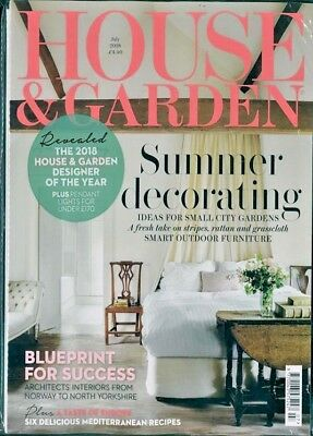 HOUSE & GARDEN MAGAZINE JULY 2018 WITH FREE 112p KITCHENS & BATHROOMS MAG ~ NEW
