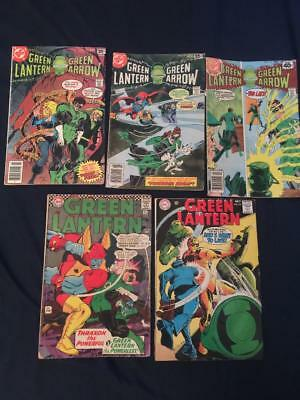 GREEN LANTERN - Lot of 5 Silver/Bronze Age books: #50, #62, #104, #105, #116