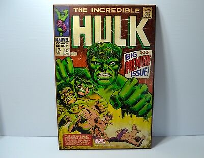 The Incredible Hulk Comic Cover Wall Art Picture Man Cave