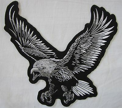 Rare Large Flying Bald Eagle Motorcycle Biker Embroidered Sew On Badge Patch