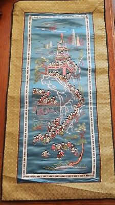 Lovely vintage Chinese Embroidery Multitudes of Children at Play