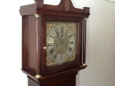 Antique  Oak  8  Day  Longcase /  Grandfather  Clock.   At Louth, Lincolnshire