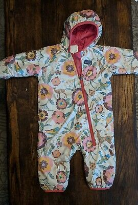 22cc7780d Patagonia Baby Infant Reversible Puff-Ball Bunting Floral/Deer Snow Suit 12M