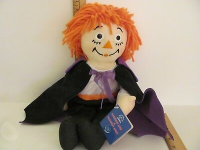 "14"" Halloween Count Raggedy Andy Johnny Gruelle Stitched Heart Applause 16755"