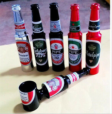 Mini Beer smoke Metal Pipes Portable Creative Smoking Pipe Herb Tobacco Pipes