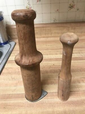 Wood plungers for meat grinder ?