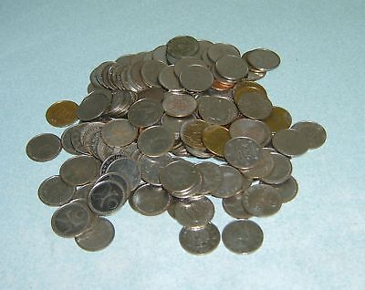 150 Used Pachislo Slot Machine Tokens - Standard .984 (Called Quarter Size)