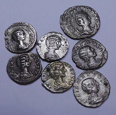 Ancient Romn Imperial Silver Denar Coins LOT - 7 pieces (Roman Empresses)
