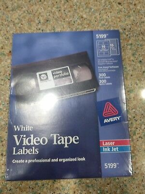 NEW **AVERY ~ 5199 Laser  ink jet VIDEO Tape, Face and Spine, 300