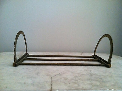 Rare Antique Solid Brass Expandable Adjustable Bookshelf Ends UNIQUE