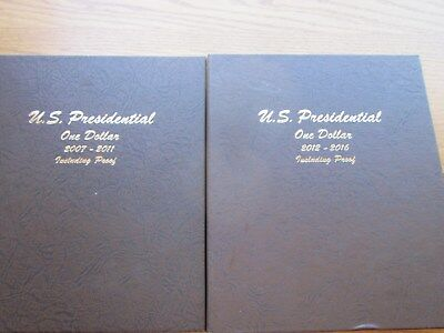 COMPLETE SET OF BU And PROOF PRESIDENTIAL DOLLARS 2007-2016 P, D AND S 117 COINS