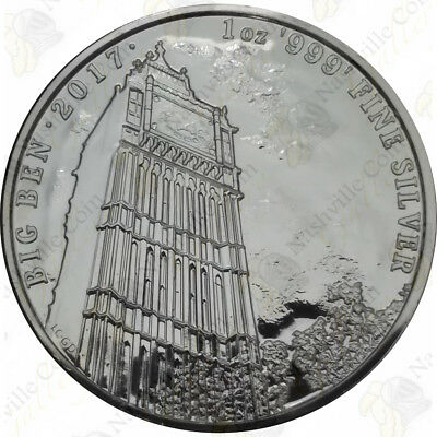 "2017 Great Britain ""Landmarks of Britain"" 1 oz .999 fine silver Big Ben -- SK..."