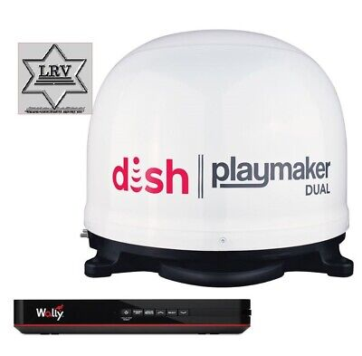 Dish Network Satellite TV Antenna; Playmaker-Portable Antenna Bundle with Wally