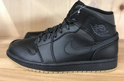 NWB AIR JORDAN 1 Mid Winterized Black Anthracite- Gum Yellow AA3992 ... 712388277