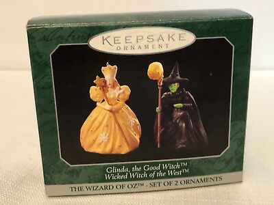 Hallmark 1997 Glinda/The Wicked Witch Of West Wizard Of Oz Ornament Never Used