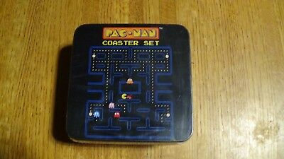 NEW Pac-Man Set of 10 Coasters with Collectible Tin Box