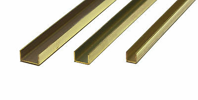 K&S Brass C Channels 300mm Long 1/8 #9885, 3/16 #9886 1/4 #9887 Precision Metals