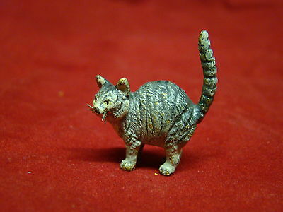 Gorgeous Austrian Vienna Bronze Cold Painted Cat with Fine Colors and Details