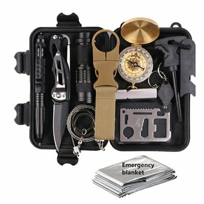 13-in-1 Outdoor Travel Outdoor Camping Hiking First Aid & Survival Kits Out Z4S3