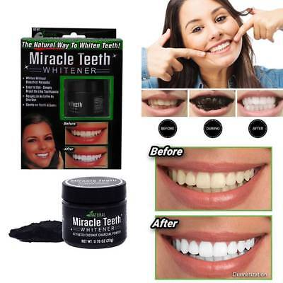 Black activated carbon teeth cleaning powder Miracle teeth Natural activity T8C8