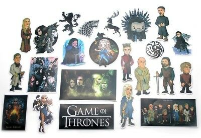 Game of Thrones Decal Stickers Assorted Lot of 23 Pieces