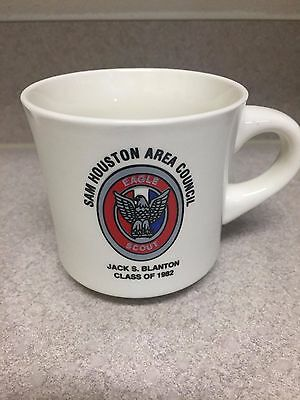 Boy Scouts coffee mug, Eagle Scout 1982 Sam Houston Area Council cup Houston TX