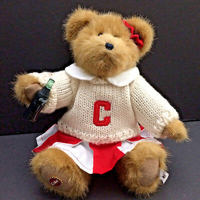 Coca Cola Boyds Bear Cheerleader Dinah Red White Advertise Memories Jointed 10in