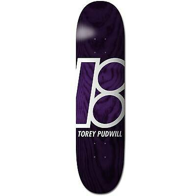 """Plan B Skateboard Deck Torey Pudwill Stained 8.25"""" FREE GRIP & POST"""