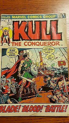 KULL the CONQUEROR #5 Blade! Blood! Battle! Marvel Comic Book