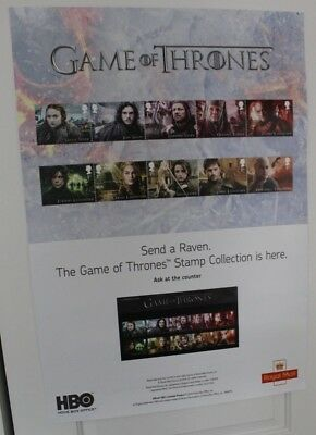 Royal Mail Game Of Thrones Stamp Issue 2018 Large (84 x 59cm) Promotional Poster