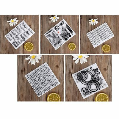 DIY Crafts Silicone Rubber Transparent Stamp Scrapbooking English Words