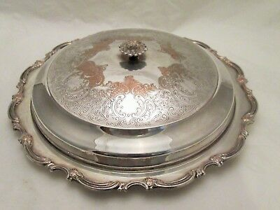 A Good Vintage Silver Plated Hors D'Oeuvres Dish / Platter / Lidded Tureen