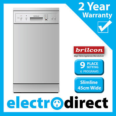 Brilcon Slim 45cm Stainless Steel Dishwasher 9 Place Setting Freestanding