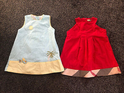 baby girls burberry dress and spanish dress age 12/18 months