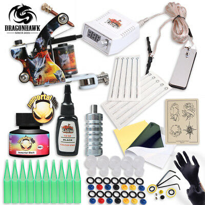 Complete Professional Tattoo Kit With IMMORTAL High Quality USA Brand Ink