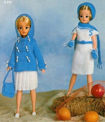 Knitting Pattern To Make Vintage Sindy Barbie Dolls Clothes 7 Items