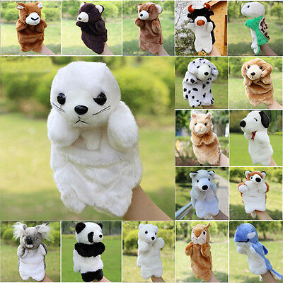 80 Styles Hot Animal Hand Puppet Dolls Baby Kids Early Education Soft Plush Toys